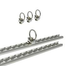 Rails voor ladingzekering 2 stuks á 60 cm 6-delig