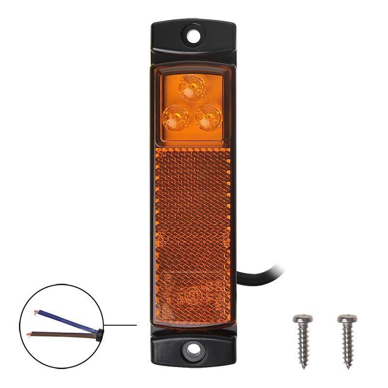 Zijmarkeringslamp Oranje LED 12/24V 126x30mm