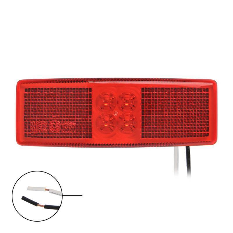 Zijmarkeringslamp Rood LED 110x40 mm