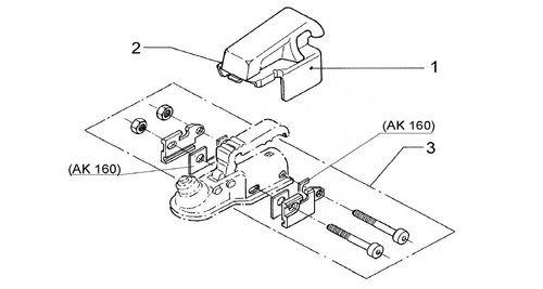 Alko Montageset AL-KO Safety AK160 rond 50mm