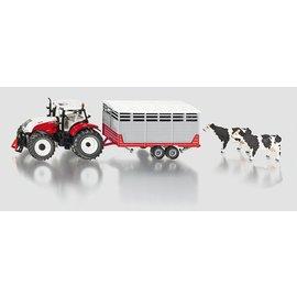 Siku 1:32 Steyer tractor met vee-aanhanger