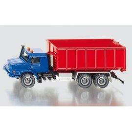 Siku 1:50 Mercedes Zetros met afrol container