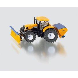 Siku 1:50 New Holland tractor met sneeuwschuif en zoutstrooier