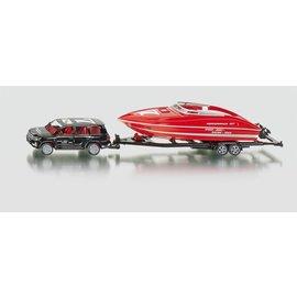 Siku 1:55 Auto met speedboot