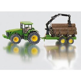 Siku 1:50 John Deere met aanhanger houttransport