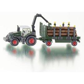 Siku 1:87 Fendt traktor met houtaanhanger