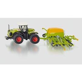 Siku 1:87 Claas Xerion tractor met zaaimachine