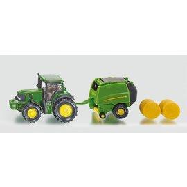 Siku John Deere tractor met balenpers