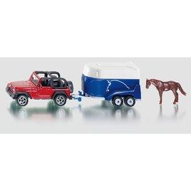 Siku Jeep met paardentrailer
