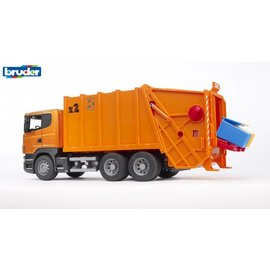 Bruder BF3560 - Scania R vuilnisauto oranje