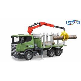Bruder BF3524 - Scania Houttransporter met kraan en 3 boomstammen