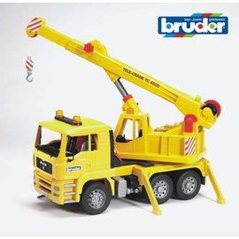 Bruder BF2754 - MAN kraanauto geel