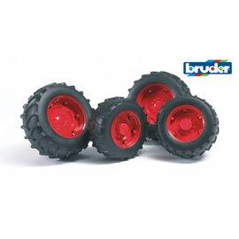 Bruder BF2322 - Dubbellucht wielenset rood