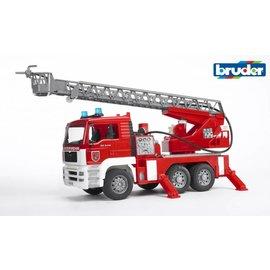 Bruder BF2771 - MAN brandweer met draailadder licht en geluid