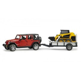 Bruder BF2925 - Jeep Wrangler Unlimited Rubicon met aanhanger en Cat lader