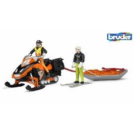 Bruder BF63100 - Sneeuwscooter met bestuurder - reddingsunit en slee