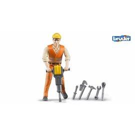 Bruder BF60020 - Constructiewerker met accessoires