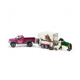 Schleich Pick-Up met paardenaanhanger - 42346