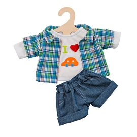 Paola Reina Jeans short met overhemd