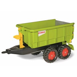RollyToys Trailer met afzetcontainer Claas