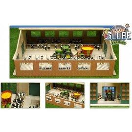 Kids Globe Luxe houten loopstal met ligboxen (1:32/Siku)