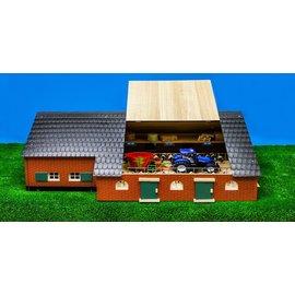 Kids Globe Woonboerderij met koeienstal (1:32)