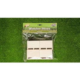 Kids Globe Houten palletboxen/aardappelkisten (4 stuks 1:16)