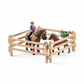 Schleich Ruiter met Ijslandse pony's - 42363