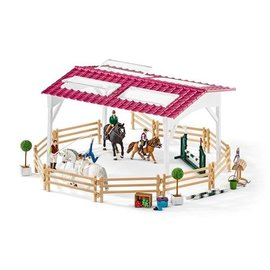 Schleich Ruiterschool met ruiter en paarden - 42389