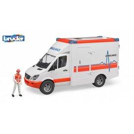 Bruder BF2536 - MB Sprinter ambulance met chauffeur