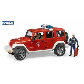 Bruder bf2528 - Jeep Wrangler Unlimited Rubicon brandweerauto + brandweerman