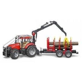 Bruder BF3098 - Case IH PUMA 230 CVX Bosbouw Tractor & Aanhanger
