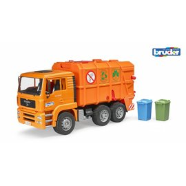 Bruder bf2760 MAN TGA oranje vuilniswagen