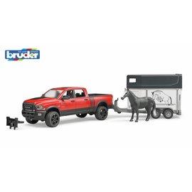 Bruder BF2501 Dodge RAM pick-up truck met paardentrailer