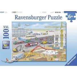 Ravensburger PU106240 - Bouwen op het vliegveld 100 stukjes