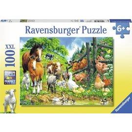 Ravensburger PU106899 - Dierenbijeenkomst 100 stukjes