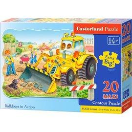 Castorland puzzels PUC21391 - Bulldozer in action 20 stukjes