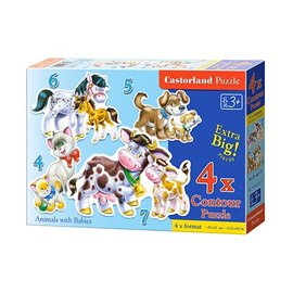 Castorland puzzels PUB042182 - Animal with babies (8, 12, 15, 20 stukjes)