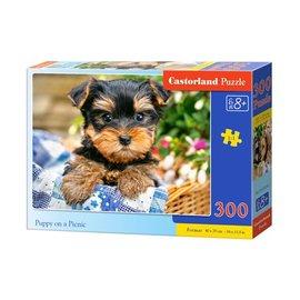 Castorland puzzels PUB030187 - Puppy on a picnic 300 stukjes