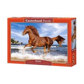 Castorland puzzels PUB52578 - Horse on the Beach 500 stukjes