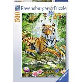 Ravensburger PU147427 - Tijger in de jungle 500 stukjes