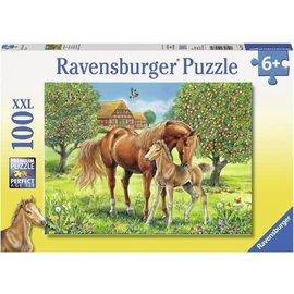 Ravensburger PU105579 - Paarden in de wei 100 stukjes