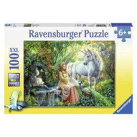 Ravensburger PU105595 - Prinses met eenhoorn 100 stukjes