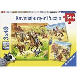 Ravensburger PU092505 - In het wilde westen (3 x 49 stukjes)