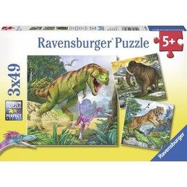 Ravensburger PU093588 - Heersers van de oertijd (3 x 49 stukjes)
