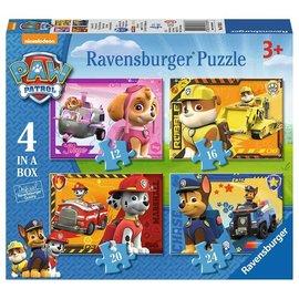 Ravensburger PU070336 - Paw patrol 4 in a box (12, 16, 20, 24 stukjes)