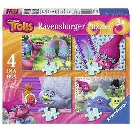 Ravensburger PU068647 - Trollen 4 in a box (12, 16, 20, 24 stukjes)