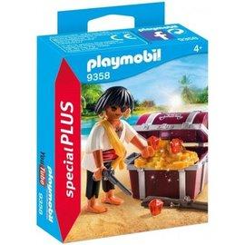 Playmobil pl9358 -  Piraat met schatkist