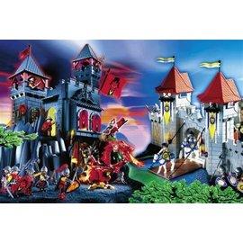 Schmidt PU55443 - Playmobil puzzle draken en ridders 200 stukjes