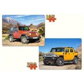 Castorland puzzels PUB021086 - Jeeps 2 puzzels 165 en 300 stukjes